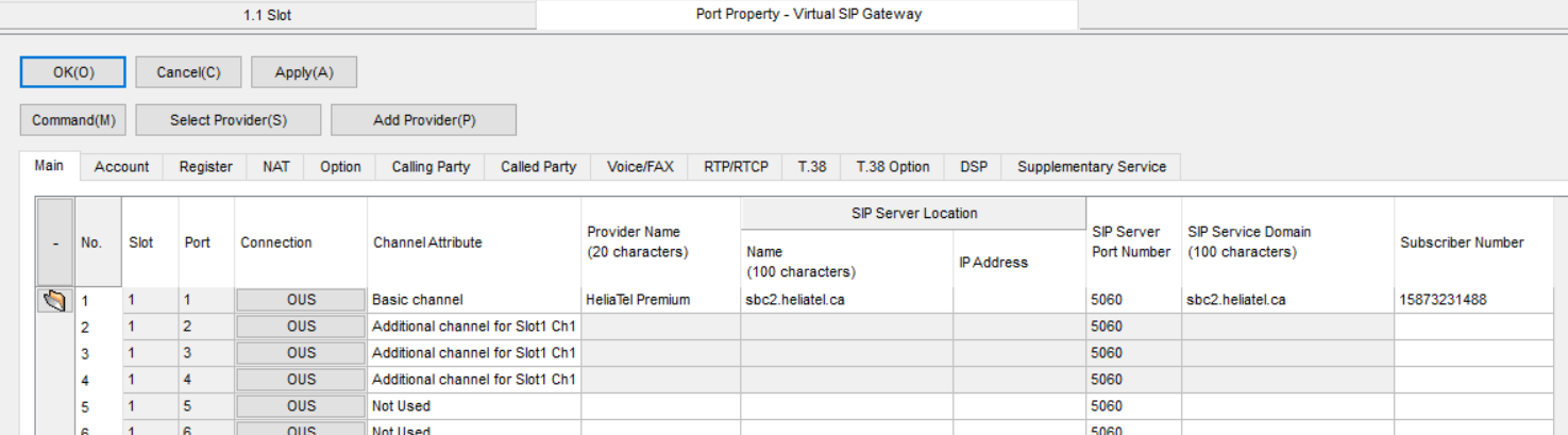 Panasonic Port Property Virtual-SIP Gateway