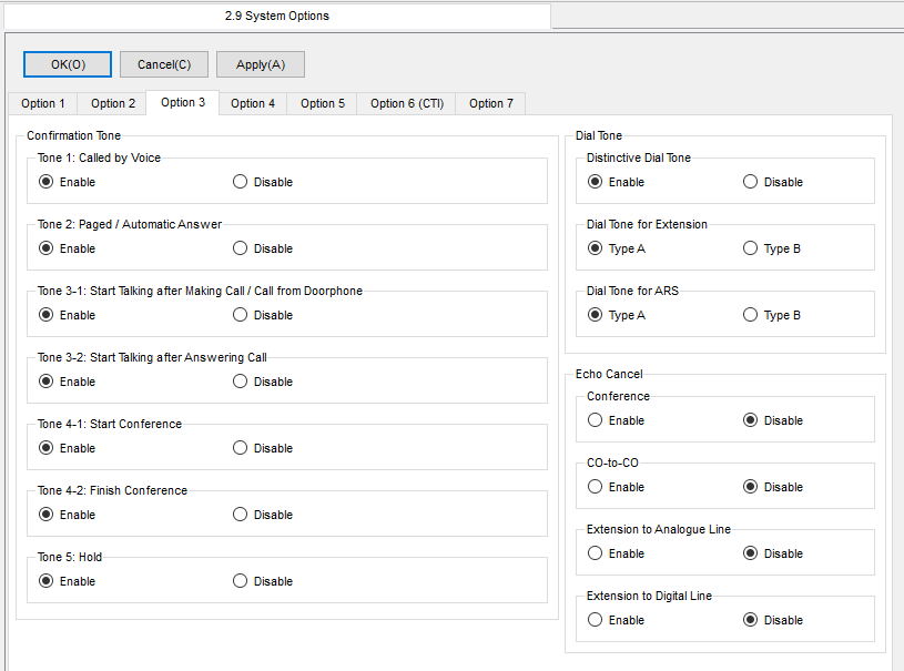 Screenshot - Panasonic - System - System Options - Option 3 Tab